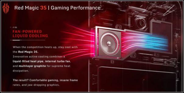 Refrigeración líquida Red Magic 3S