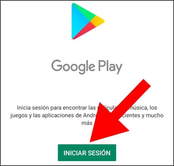 iniciar sesión Play Store
