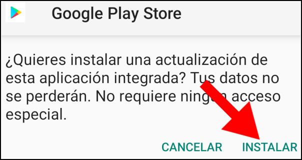 instalar Google Play Store