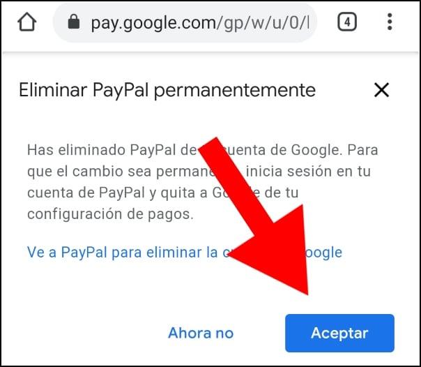 eliminar cuenta Google Play