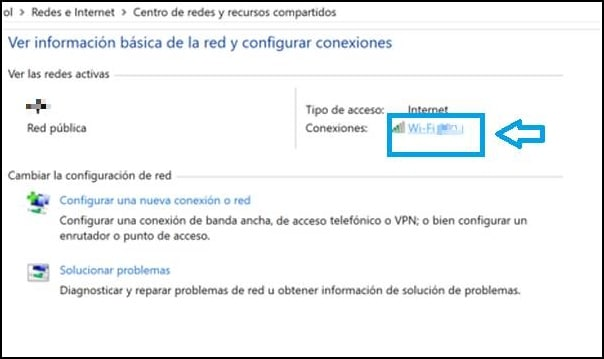 red WiFi conectada