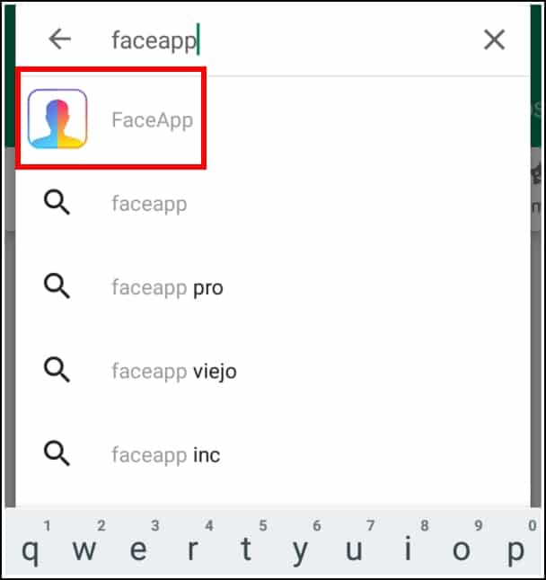buscar FaceApp