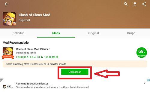 descargar el mod