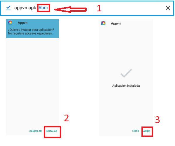 Instalar APPVN en Android