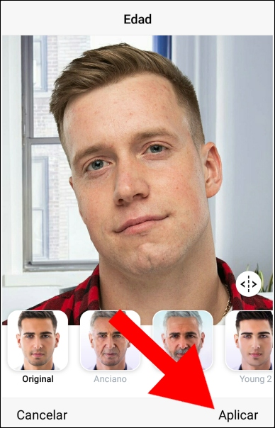 aplicar filtros FaceApp
