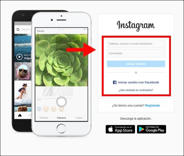 iniciar sesión Instagram Web