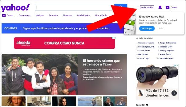 iniciar sesión Yahoo Mail!