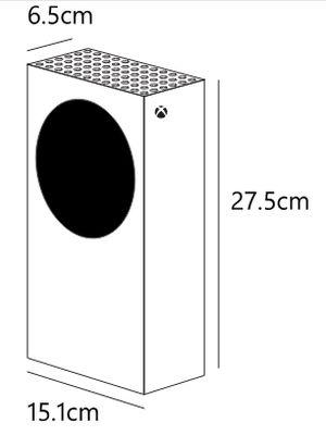 Xbox Series S medidas