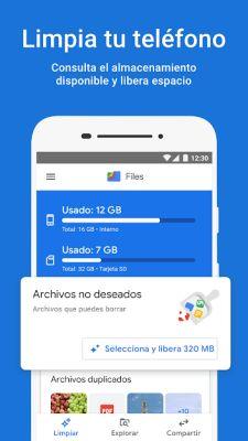 aumentar memoria interna android files go