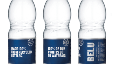 Photo of Belu becomes first UK water company to make all plastic bottles from 100% recycled plastic bottles