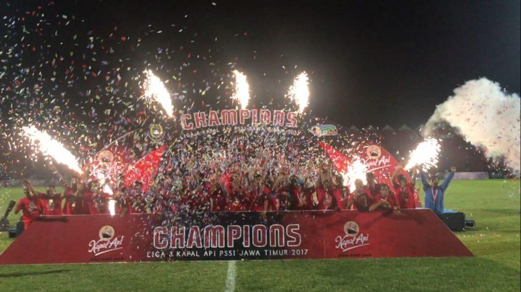 Blitar United juara Liga 3 Kopi Kapal Api PSSI Jatim usai taklukkan Persibo Bojonegoro di final