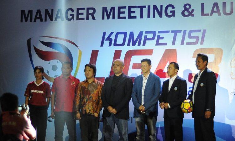 Manager Meeting dan Launching Liga 3 Kapal Api PSSI Jatim 2018 di Hotel Agrokusuma Wisata, Kota Batu (24/3/2018)