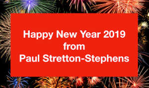 Happy New Year 2019 from Paul Stretton-Stephens