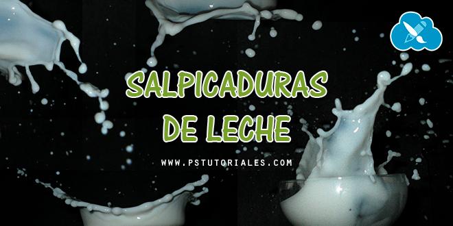 Salpicaduras de leche para efecto splash