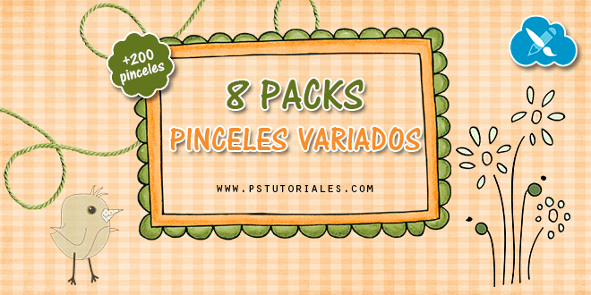 8 packs de pinceles para Photoshop