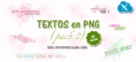 Textos PNG para blends – Pack 2