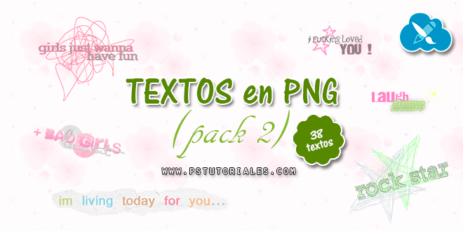 Textos PNG para blends – Pack 2