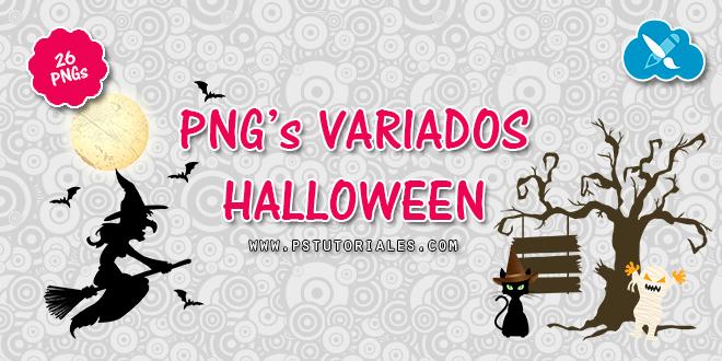 26 PNGs de Halloween