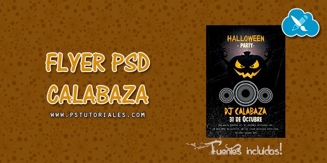 PSD Flyer Calabaza Halloween