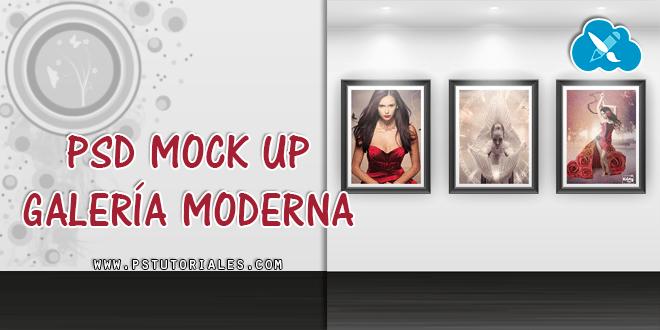 PSD Mockup de galería moderna