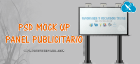 PSD Mockup de Panel de anuncios