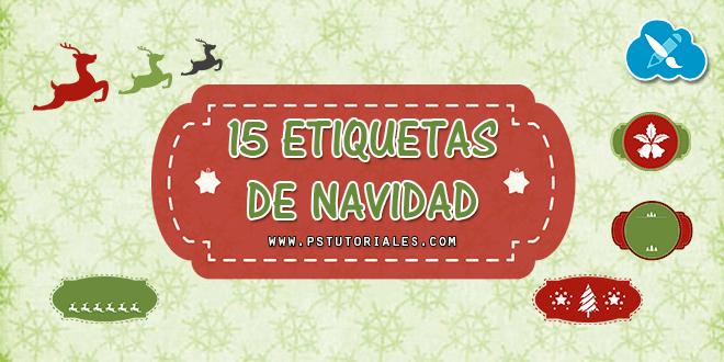 15 etiquetas o banners de Navidad