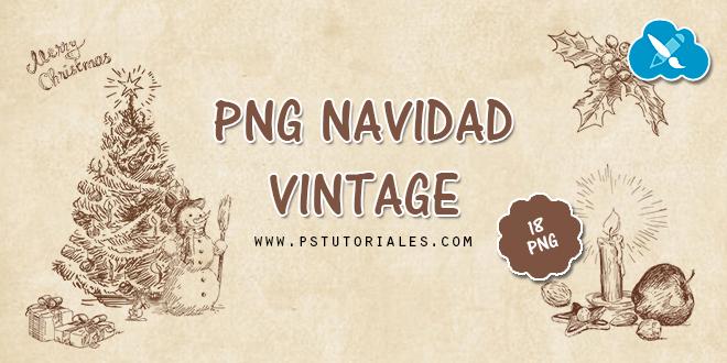 PNG Navidad Vintage