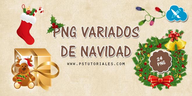 24 PNGs variados de Navidad