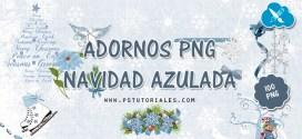 Scrap Kit Navidad Azulada – PNGs