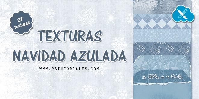 Scrap Kit Navidad Azulada – Texturas