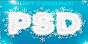 ice snowflakes text effect