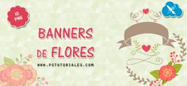 10 banners de flores
