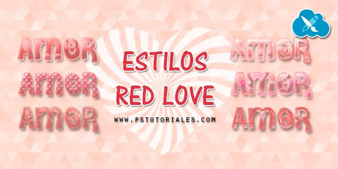 Estilos Red Love para Photoshop