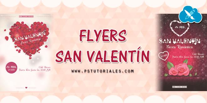 Flyers PSD de San Valentín