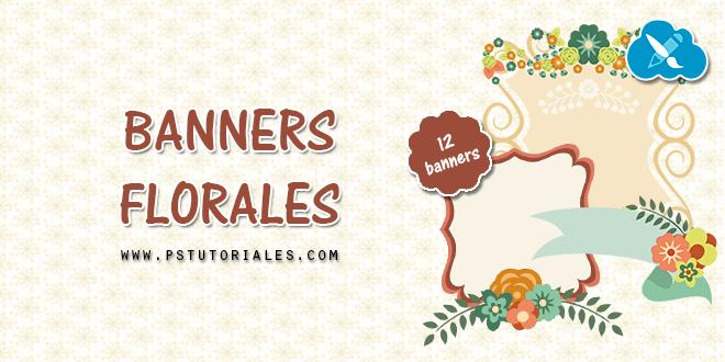 12 banners de flores