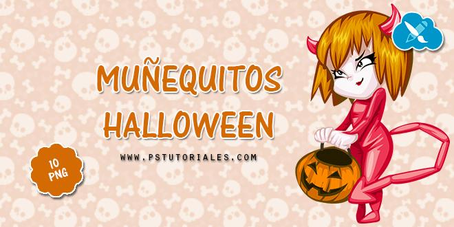 10 muñequitos de Halloween