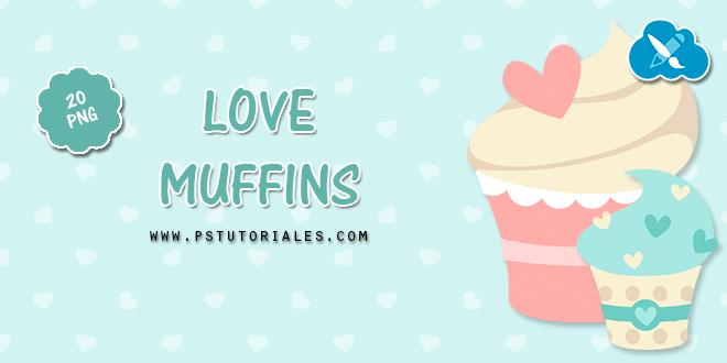 20 muffins con corazones