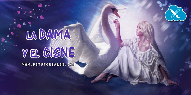 La dama y el cisne – Photoshop manipulation