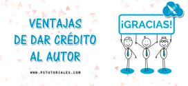 Dar créditos a autores es todo ventajas
