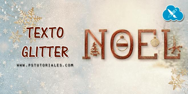 Texto Glitter (especial Navidad) Photoshop Tutorial