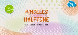 16 pinceles halftone para Photoshop