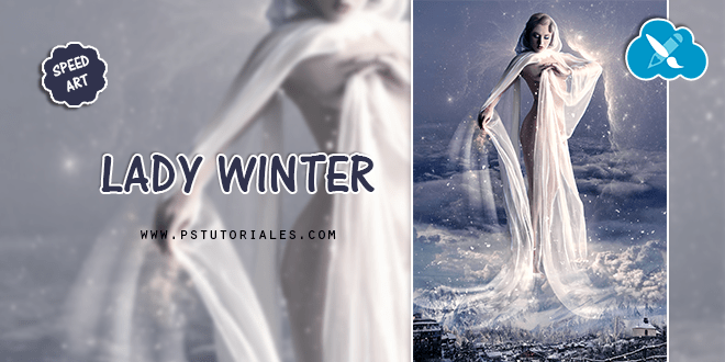 Lady Winter Speed Art Photoshop