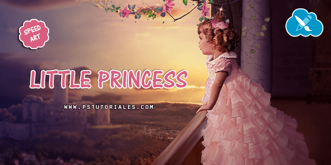 Little Princess Speed Art Photoshop