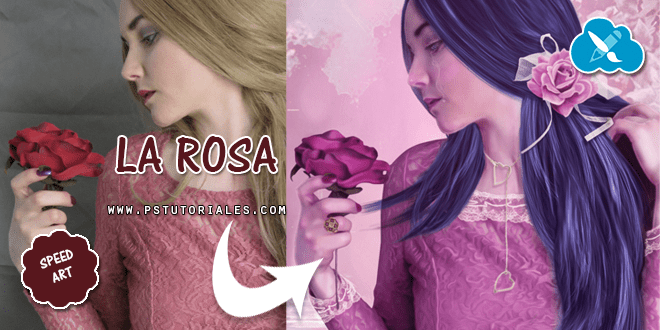 La rosa Speed Art Photoshop