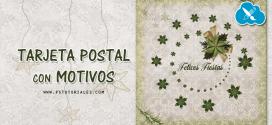 Tarjeta postal de Navidad con motivos en Photoshop