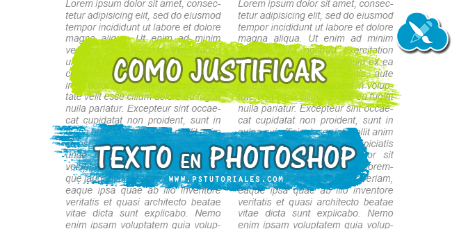 Cómo justificar texto en Photoshop