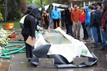PSU Concrete Canoe Competition Float Test