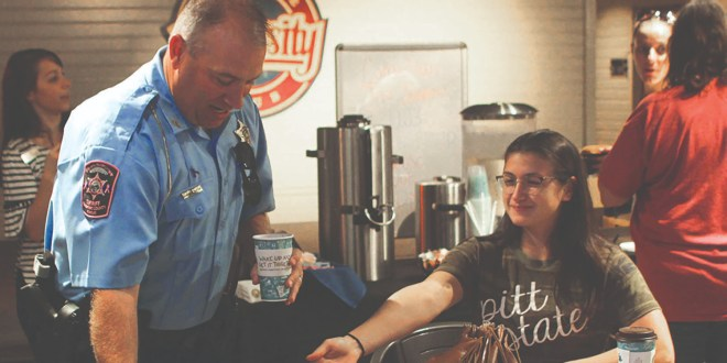 Celebrating National Coffee with a Cop day in the U-Club