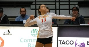 Volleyball defeats Fort Hays, defeated by Nebraska-Kearney