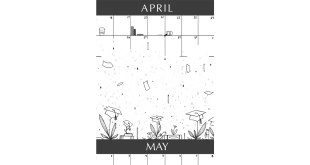 April Showers Bring May Flowers Illustration